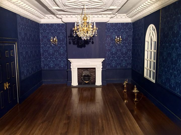 Onto The Blue Room Now Again It S Taking An Age Plasterwork This Time Using One Of Sue Cooks Amazing Ceiling Panels And Her Coving